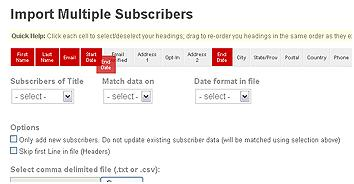 Import Multiple Subscribers